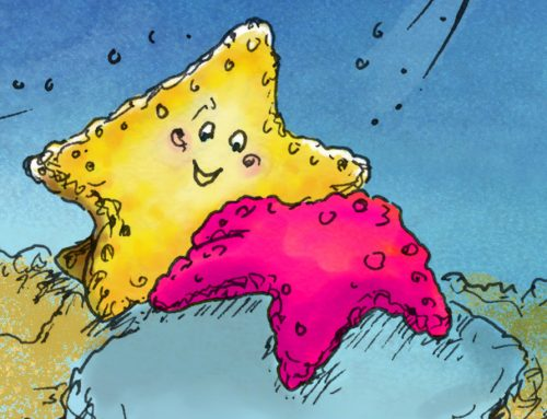 StarZooom loves visiting her starfish friends!